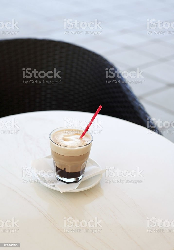 Cappuccino On Table royalty-free stock photo