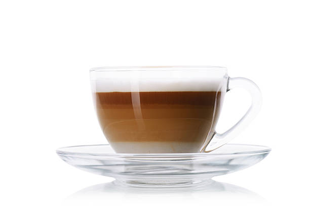 Cappuccino on white stock photo