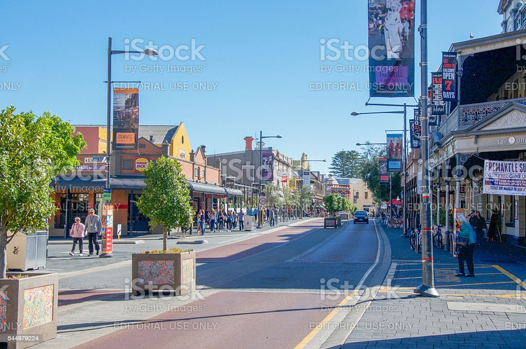Cappuccino Strip in Fremantle stock photo