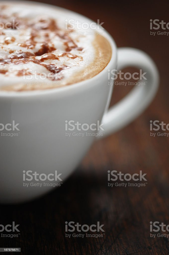 cappuccino topped with real melted chocolate royalty-free stock photo