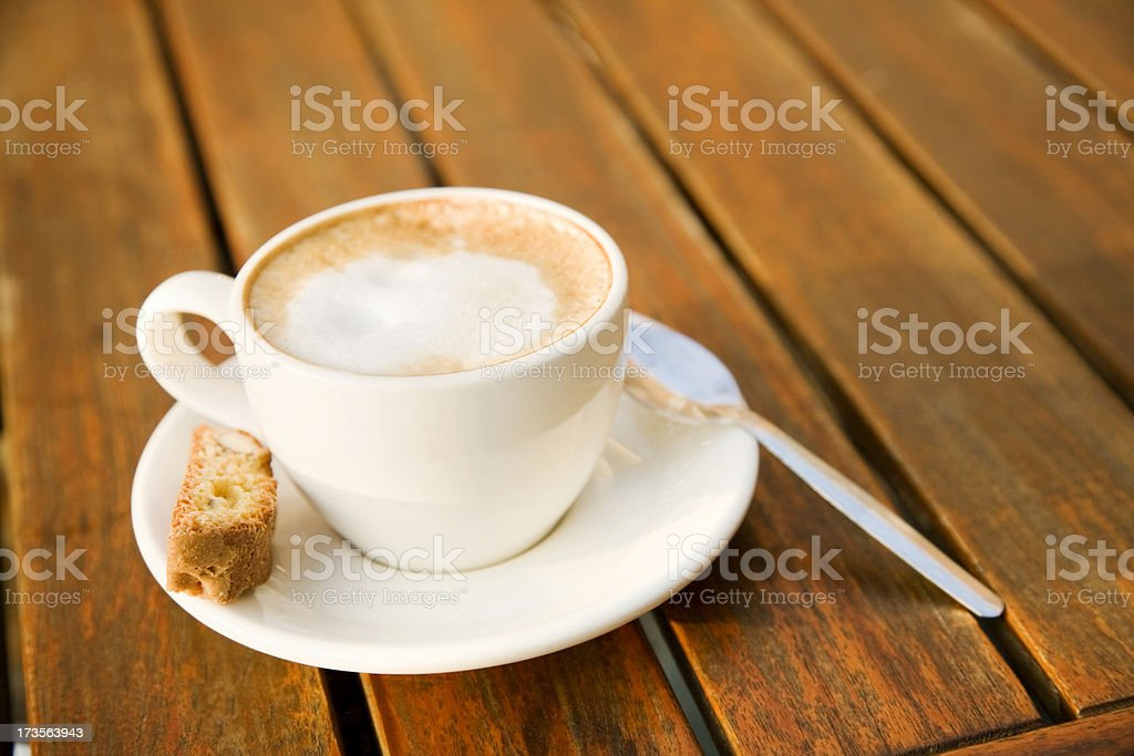 Cappuccino with Biscotti royalty-free stock photo