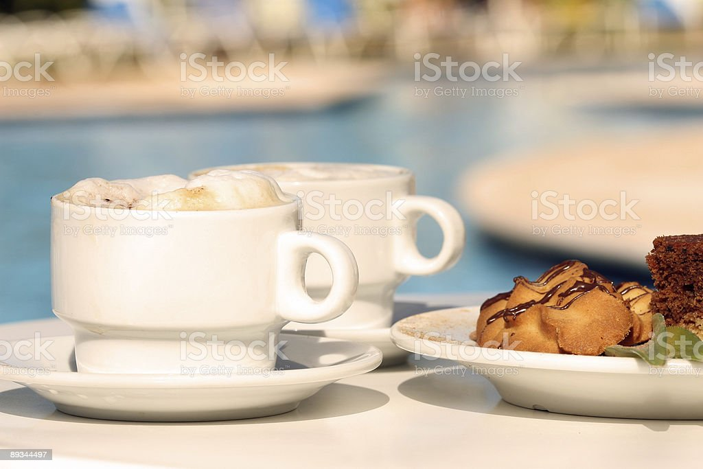 Cappuccino with biscuits royalty-free stock photo