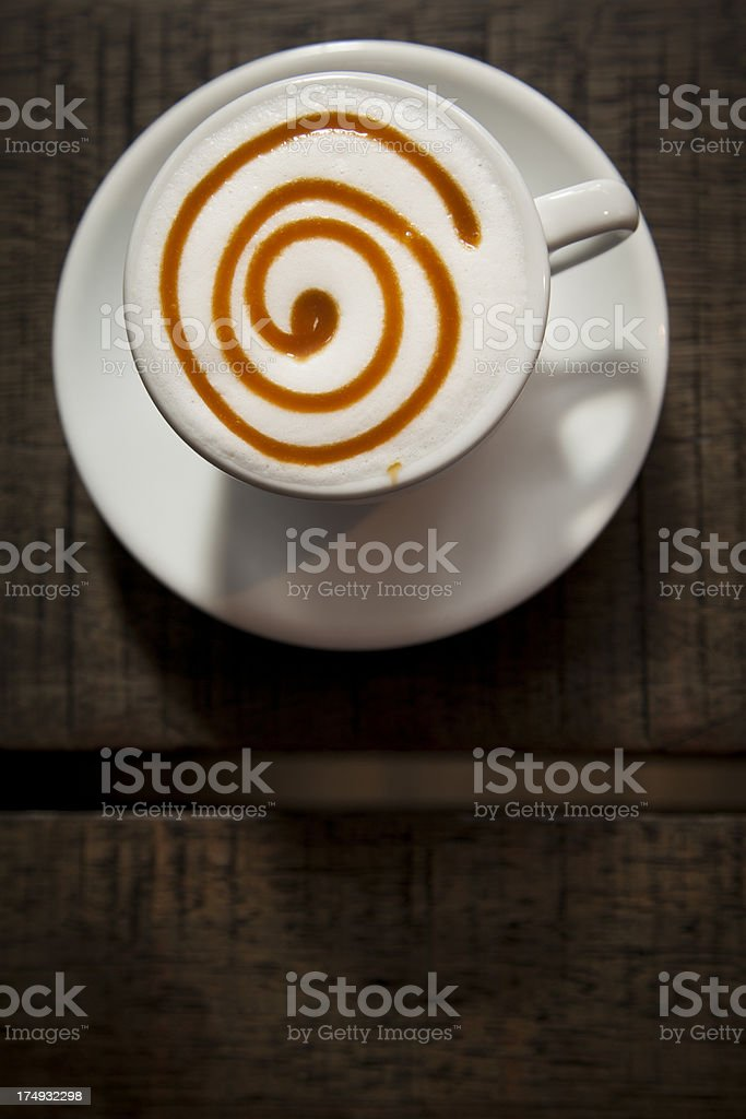 Cappuccino With Caramel Decoration Stock Photo - Download ...
