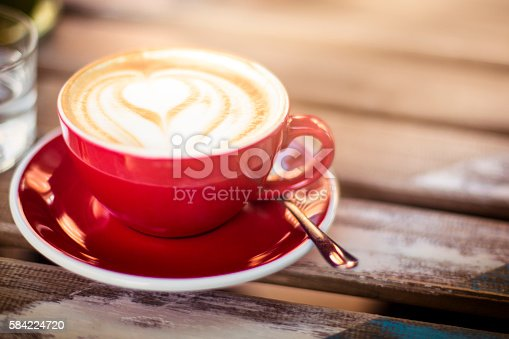 Cappuccino with nice latte art
