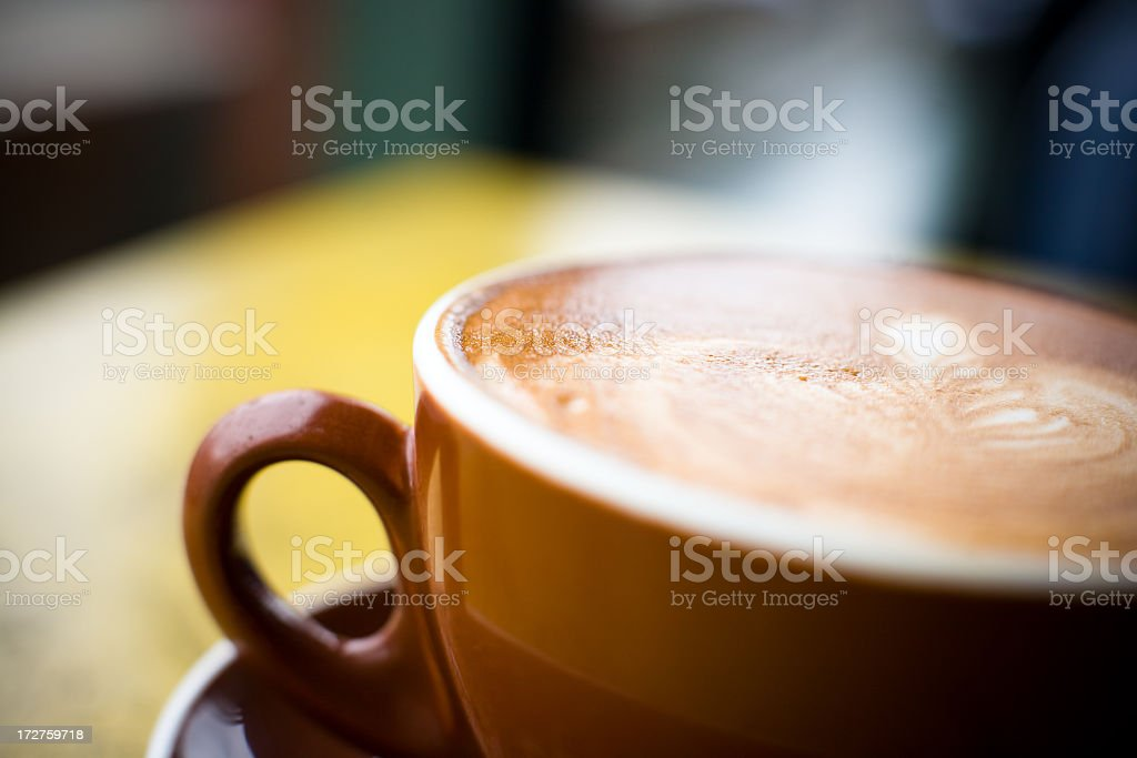 Cappuccino/latte royalty-free stock photo