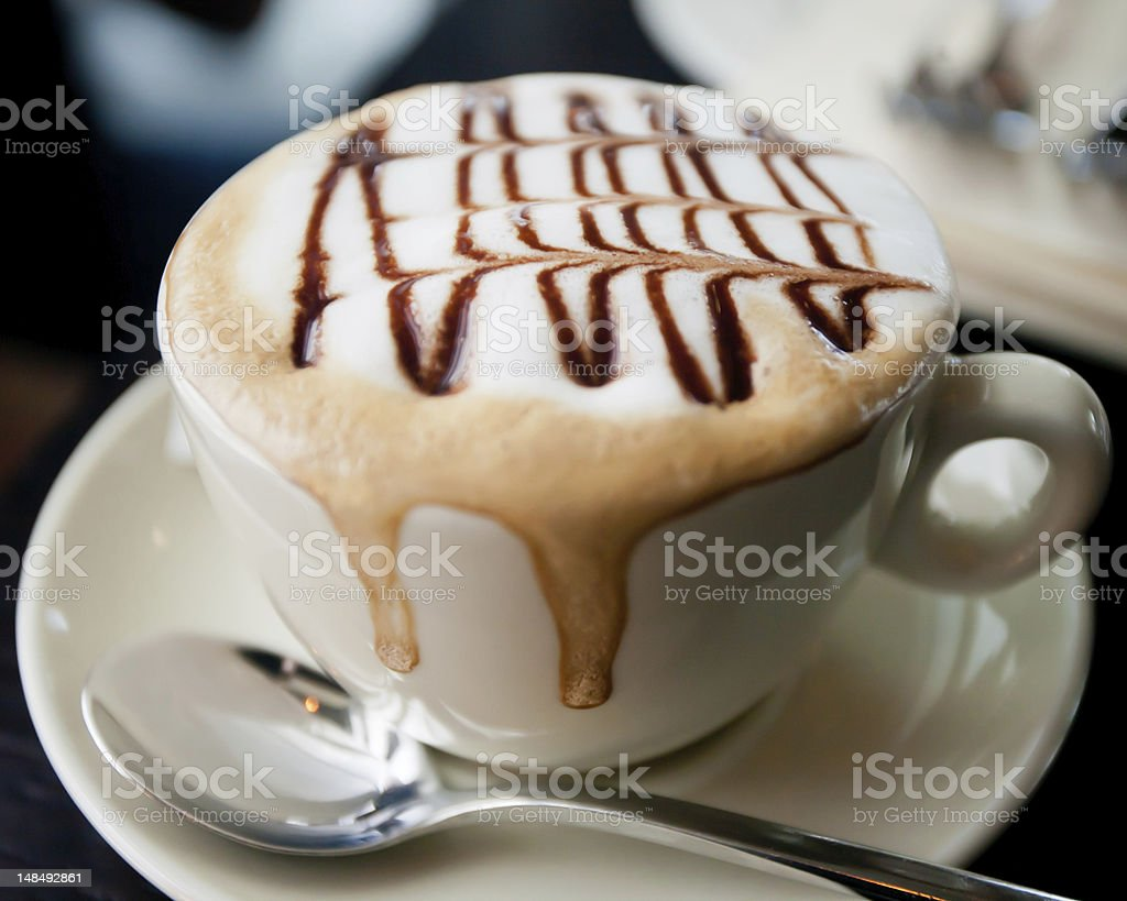 Cappuchino cup with royalty-free stock photo