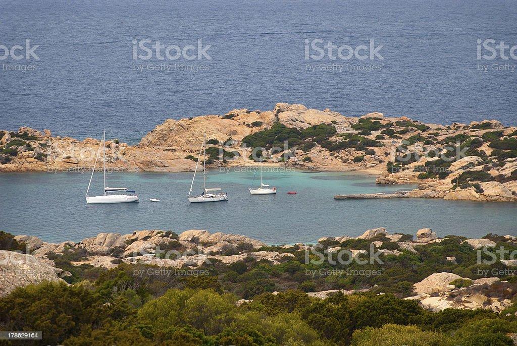 Caprera Island stock photo