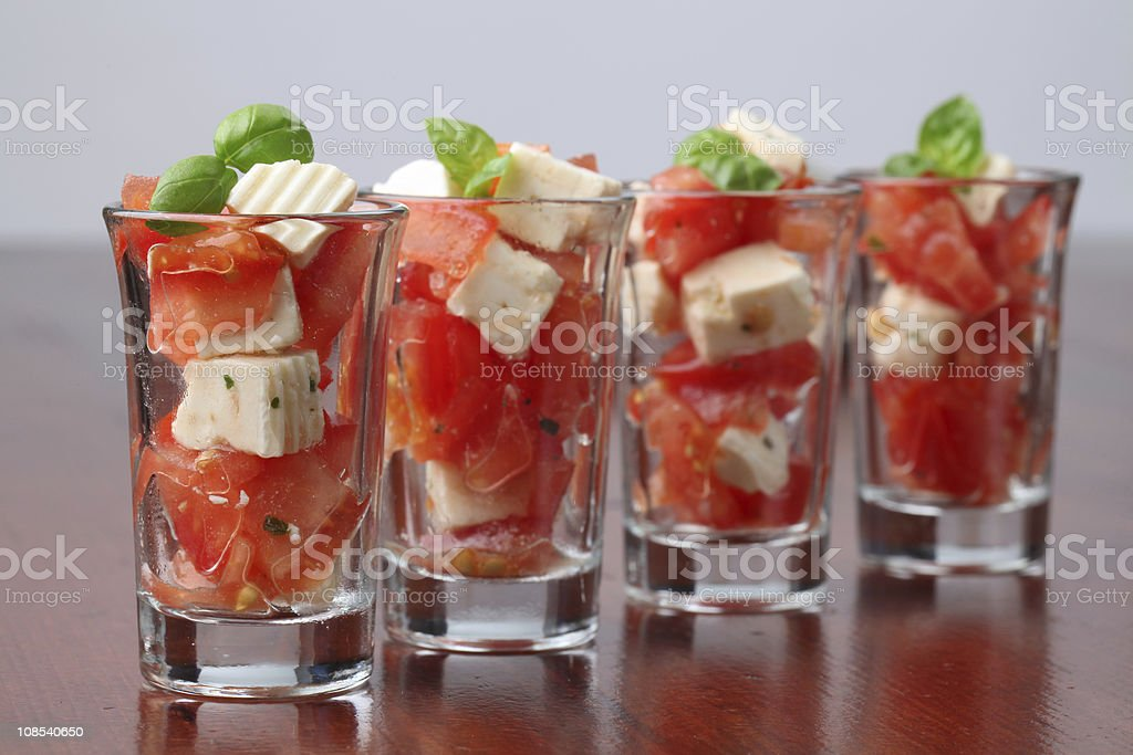 Caprese appetizers royalty-free stock photo