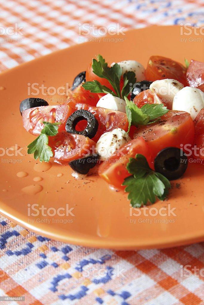 Caprese insalata stock photo