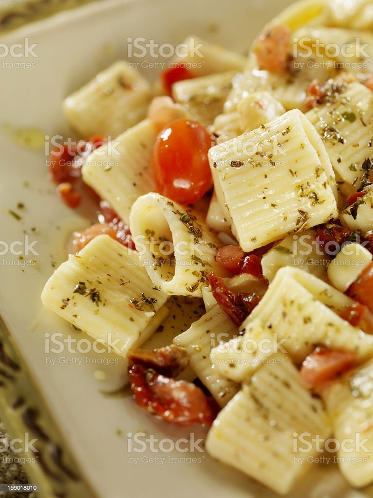 Caprese Pasta Salad royalty-free stock photo