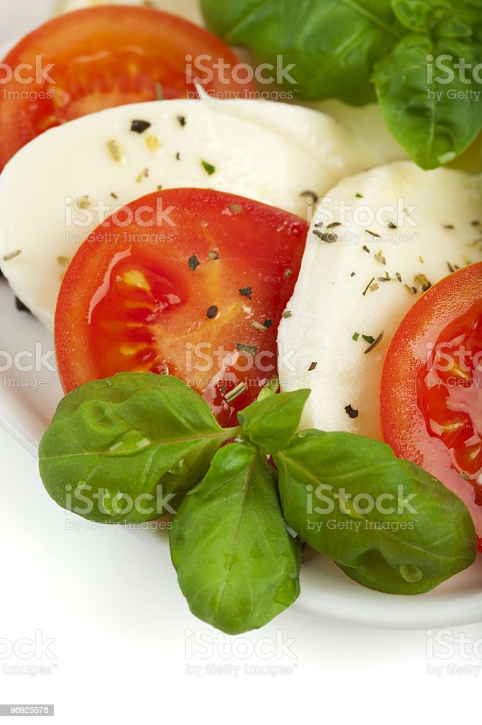caprese salad close up royalty-free stock photo