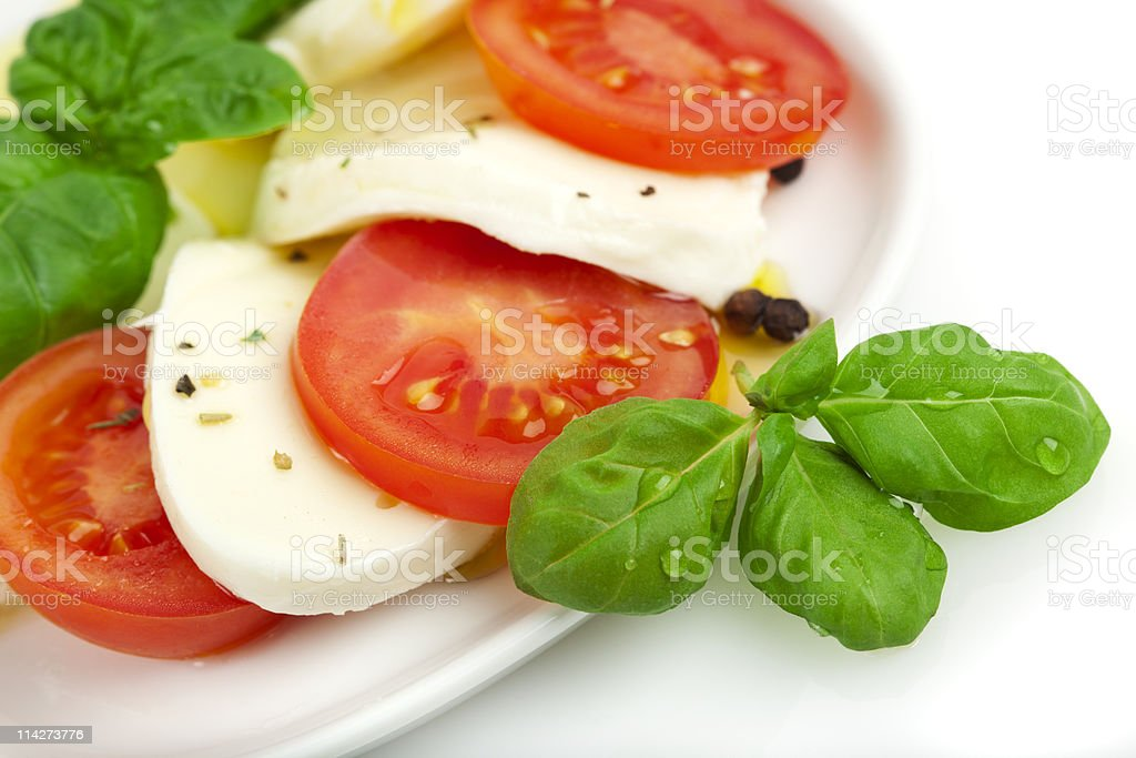 caprese salad closeup royalty-free stock photo