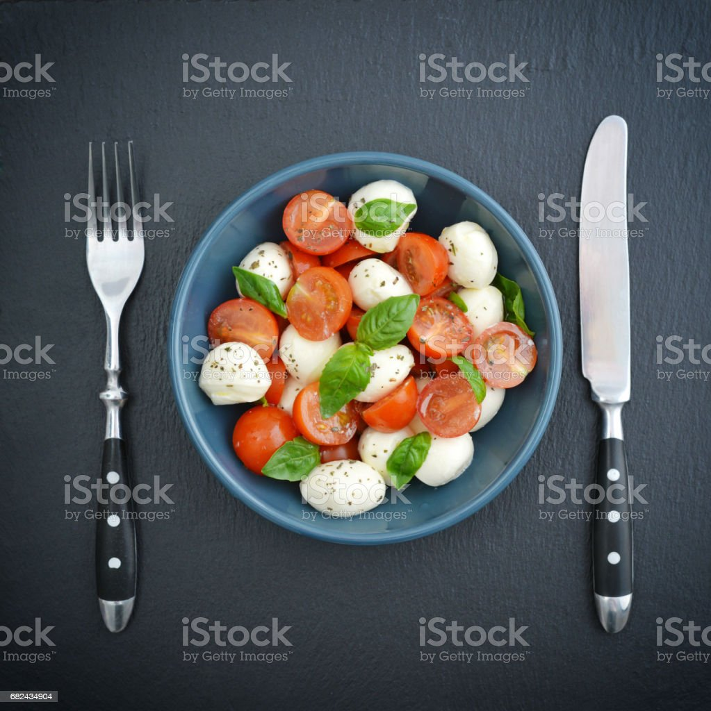 Caprese Salad in bowl royalty-free stock photo