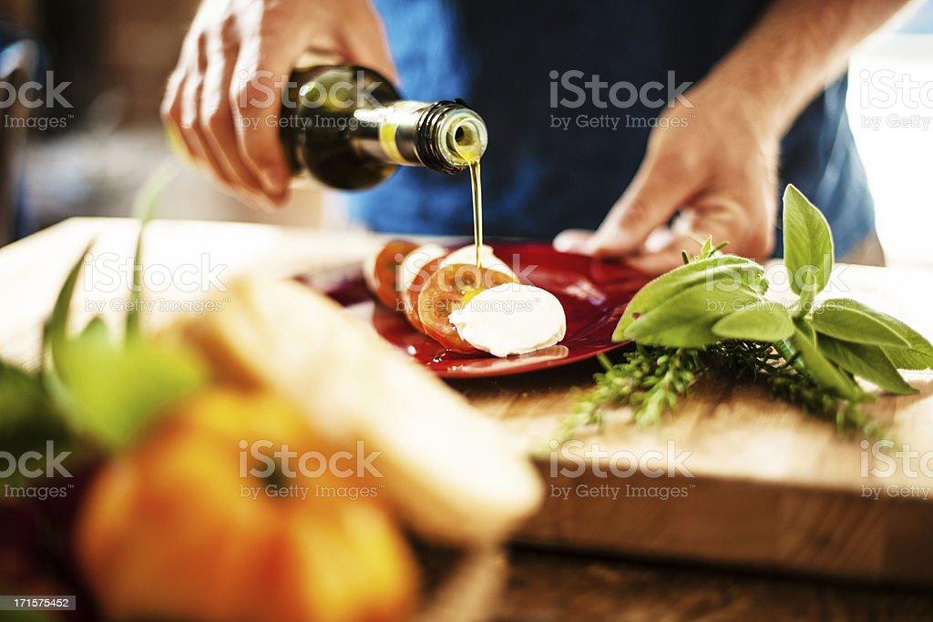 Salada Caprese - fotografia de stock
