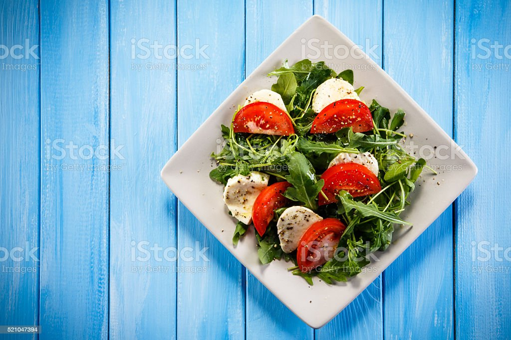 Caprese salad stock photo