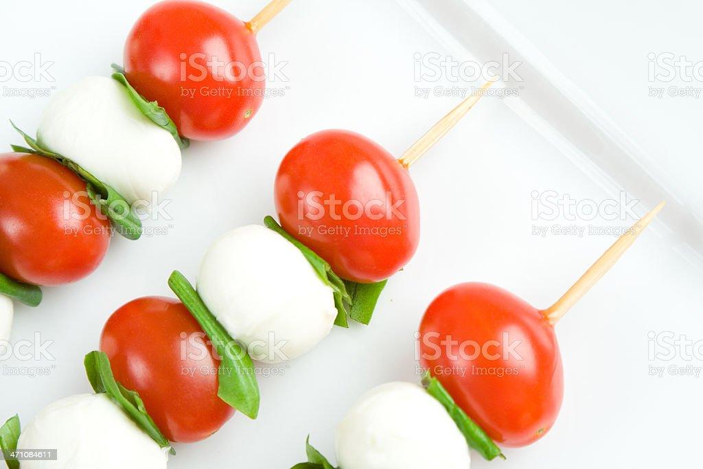 Caprese salad sticks royalty-free stock photo