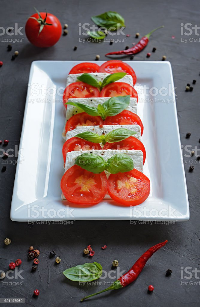 Caprese salad with ingredients foto stock royalty-free