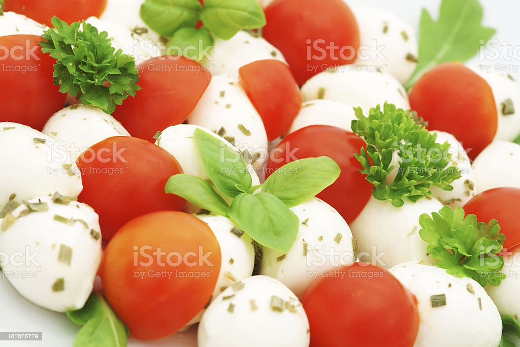 Caprese salad with mozzarella and cherry tomato royalty-free stock photo