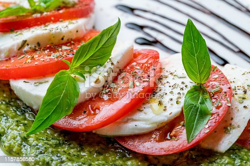 Caprese salad with mozzarella and tomato