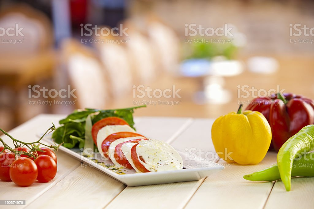 Caprese Salad with Vegetables stock photo