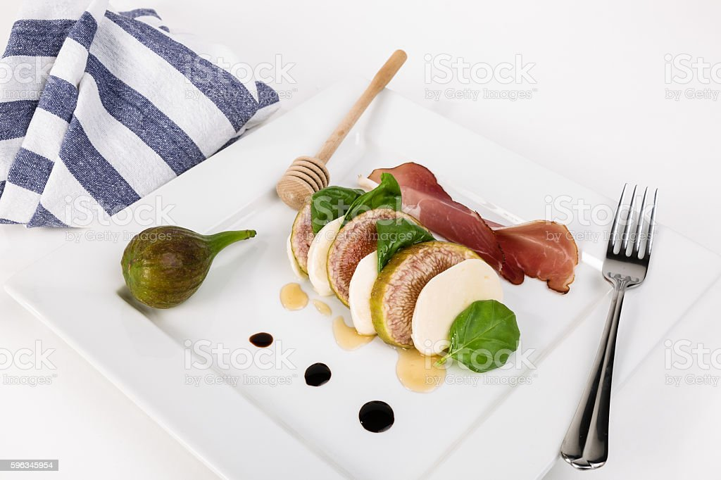 Caprese with figs Lizenzfreies stock-foto
