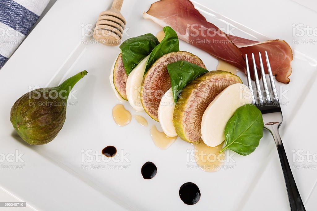 Caprese with figs Lizenzfreies stock-foto