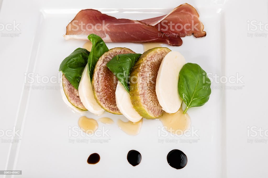 Caprese with figs royalty-free stock photo