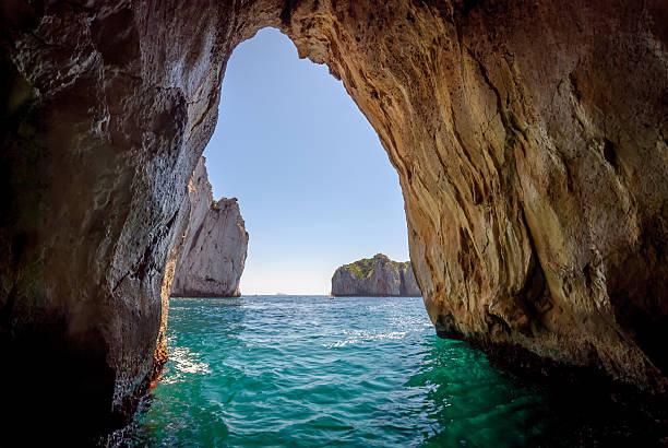 Capri blue grotto stock photo