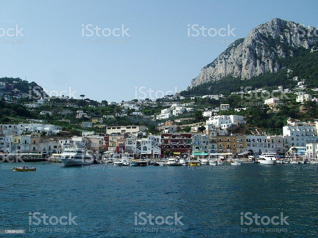 Capri Harbour 1 royalty-free stock photo