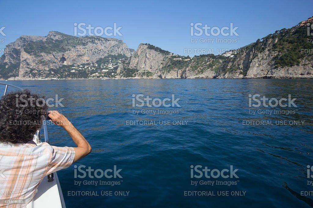 Capri in the Bay of Naples, Italy royalty-free stock photo