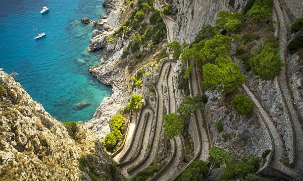 Capri Island in Italy - Via Krupp – Foto