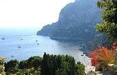 Capri island in summer. Tyrrhenian sea.