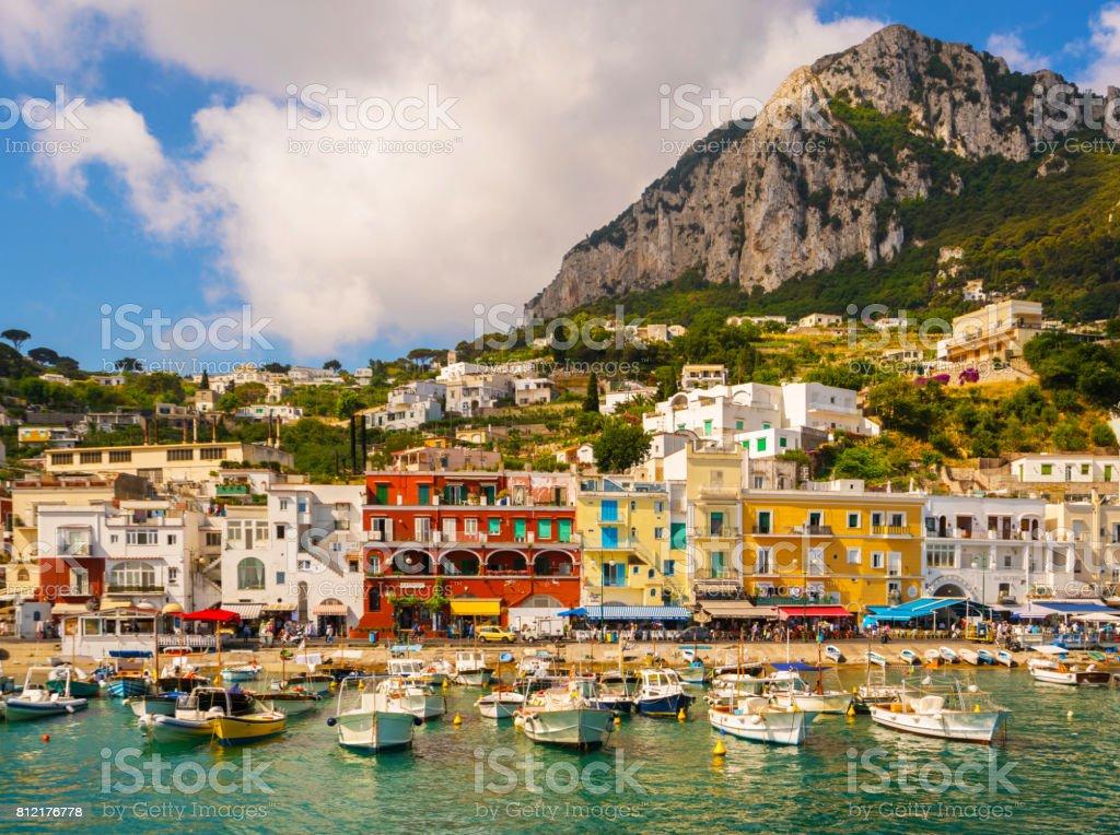 Capri island Italy stock photo