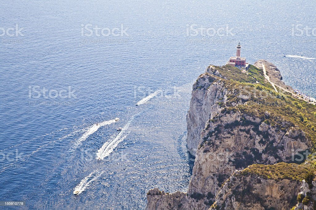 Capri Island panorama royalty-free stock photo