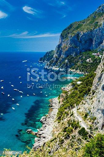 The view from Giardini di Augusto, Capri