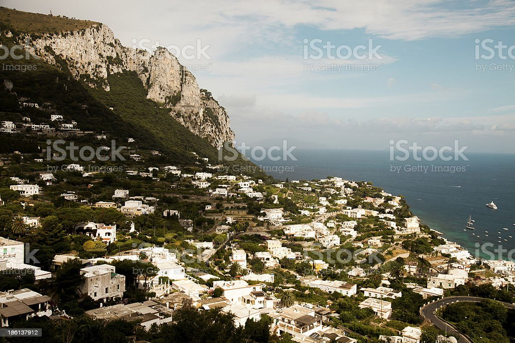 Capri town stock photo