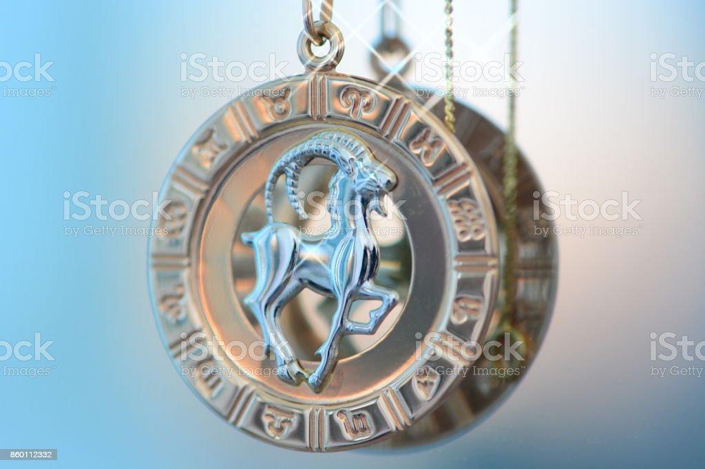 Capricorn astrology sigh stock photo