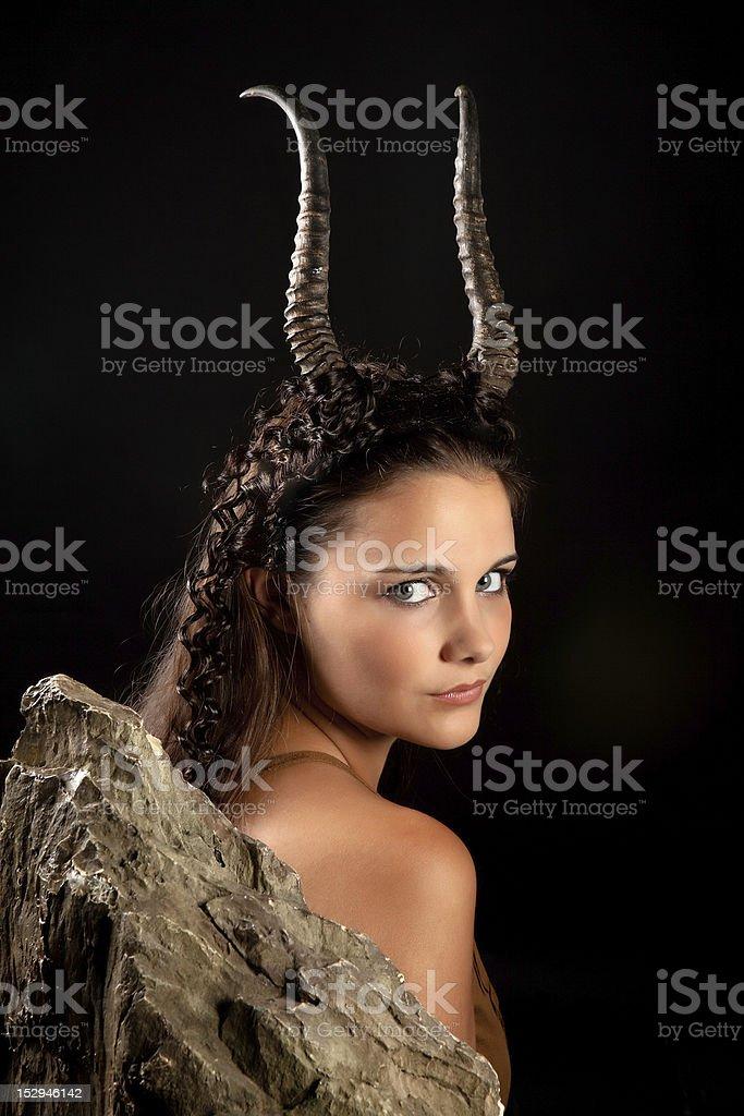 Capricorn girl stock photo