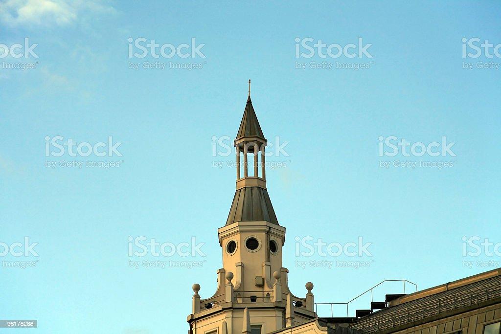 Cabestano su sfondo di cielo foto stock royalty-free