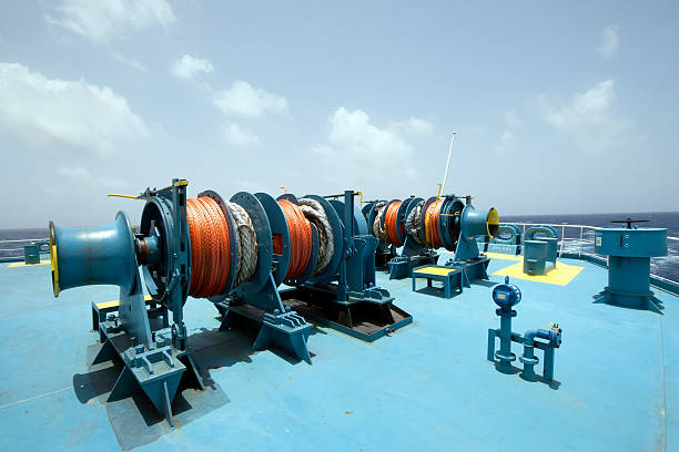 capstan - cable winch stock photos and pictures