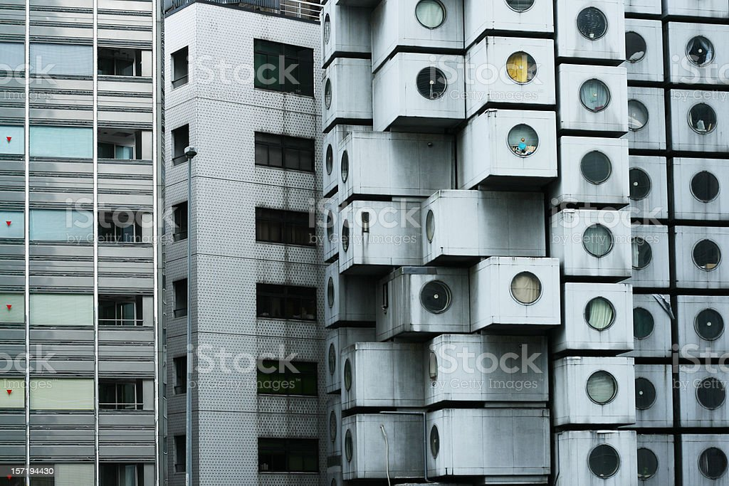 Capsule hotel royalty-free stock photo