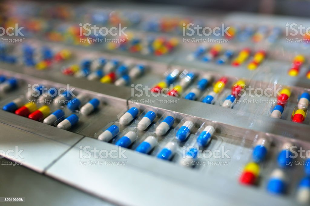 Capsule Package Production Line stock photo