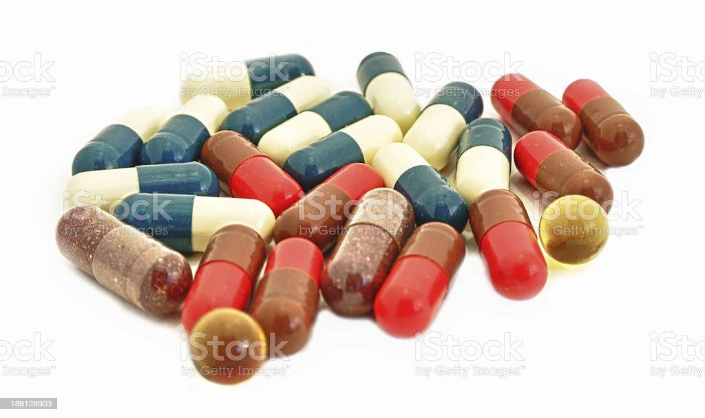 Capsule Pills Medicine in heap royalty-free stock photo