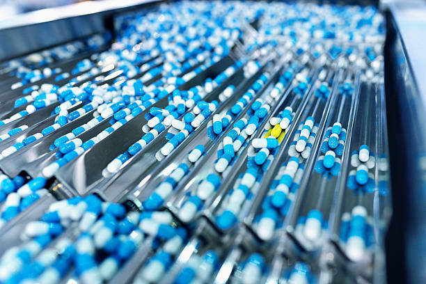 Capsule Production Line stock photo