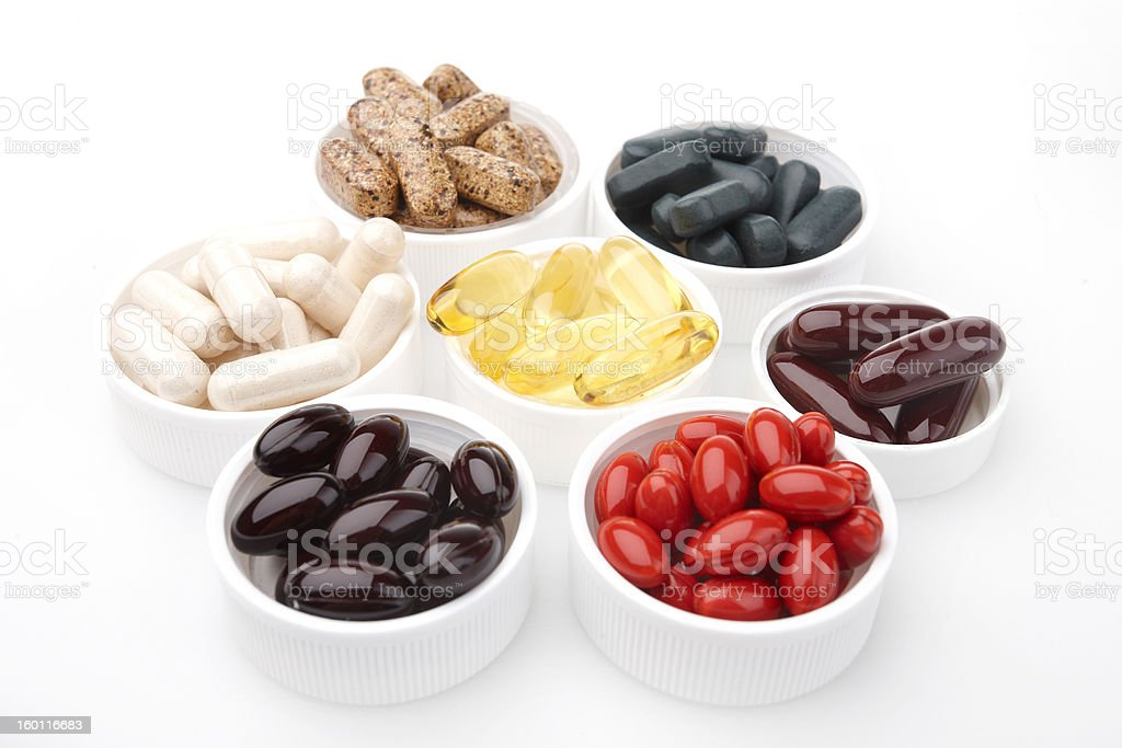capsule supplement royalty-free stock photo
