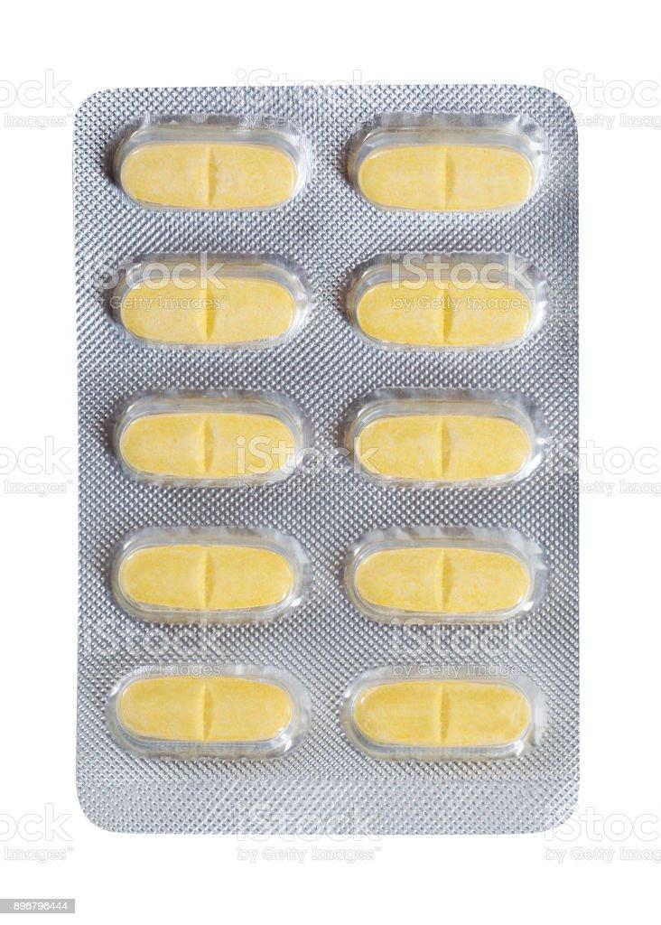 Cápsulas en blíster - foto de stock