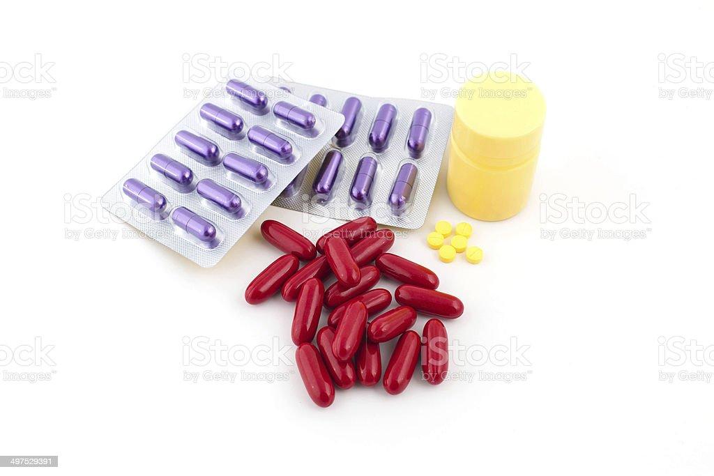 capsules, isolated on white stock photo