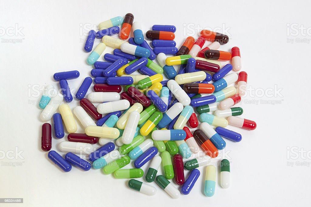 capsules on white royalty-free stock photo