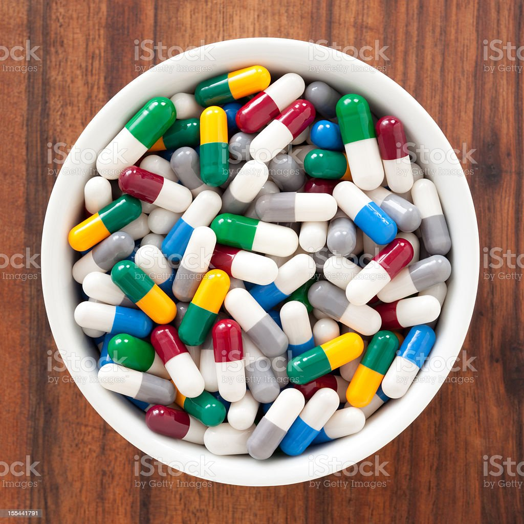 Capsules royalty-free stock photo