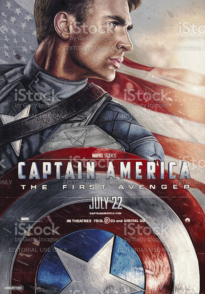 Captain America: The First Avenger - Movie Poster stock photo